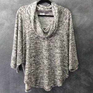 SPLENDID | Cowl Neck Burnout Boxy Sweater Size XL